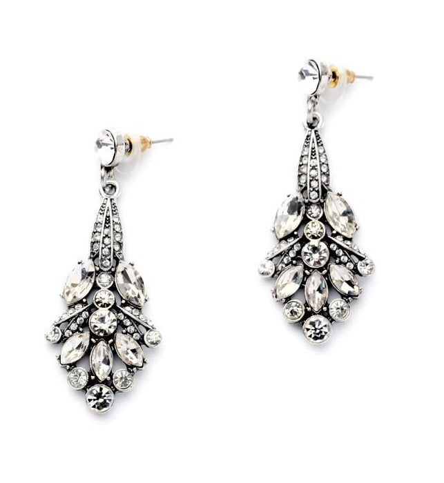 Last True Angel Vintage Crystal Drop Earrings