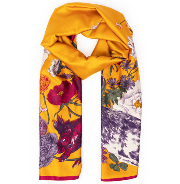 Powder Forest Friends Satin Scarf