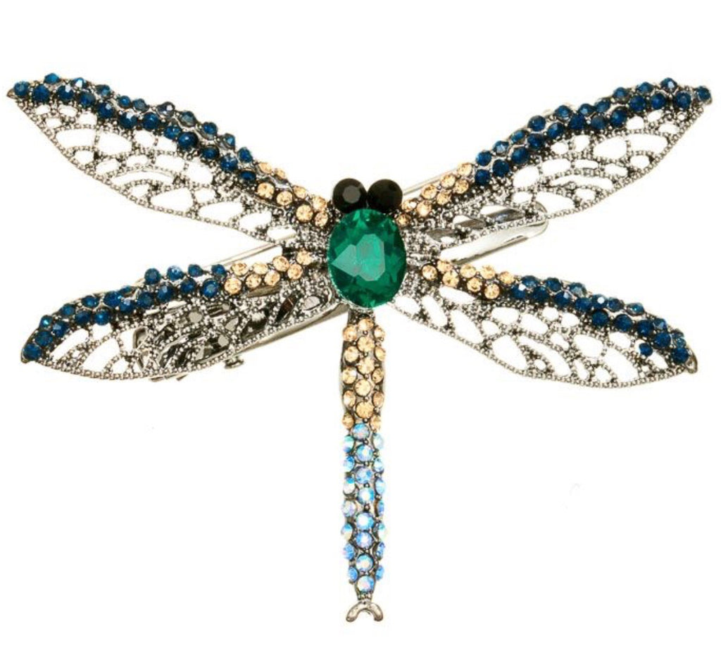 Rosie Fox Dragonfly Brooch and Hairslide