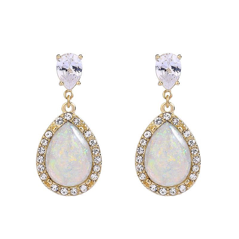 Last True Angel Shimmer Crystal Teardrop Earrings