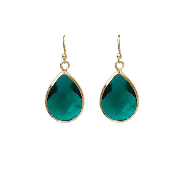 Last True Angel Emerald Green Teardrop Earrings