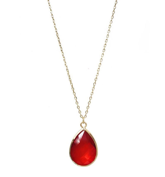 Last True Angel Red Teardrop Pendant
