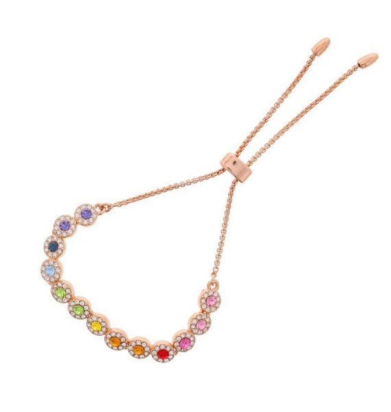 Nour London Rose Gold Rainbow Bracelet