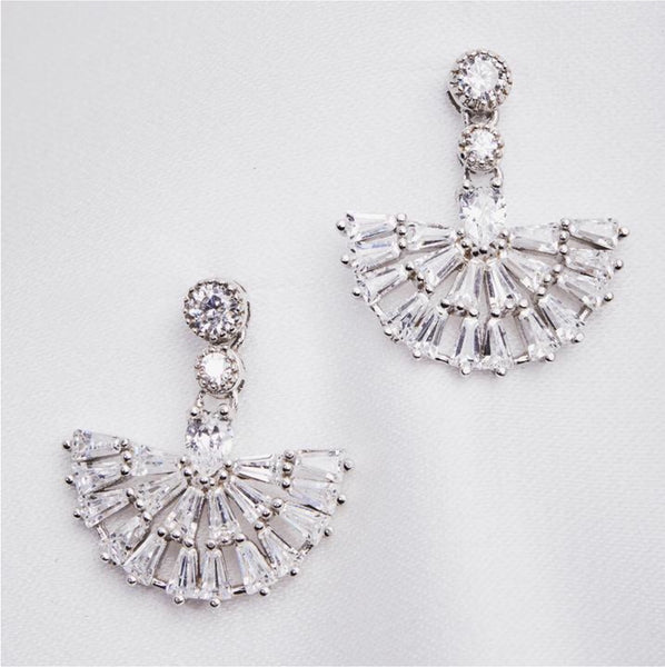 Lovett & Co Mini Crystal Fan Drop Earring