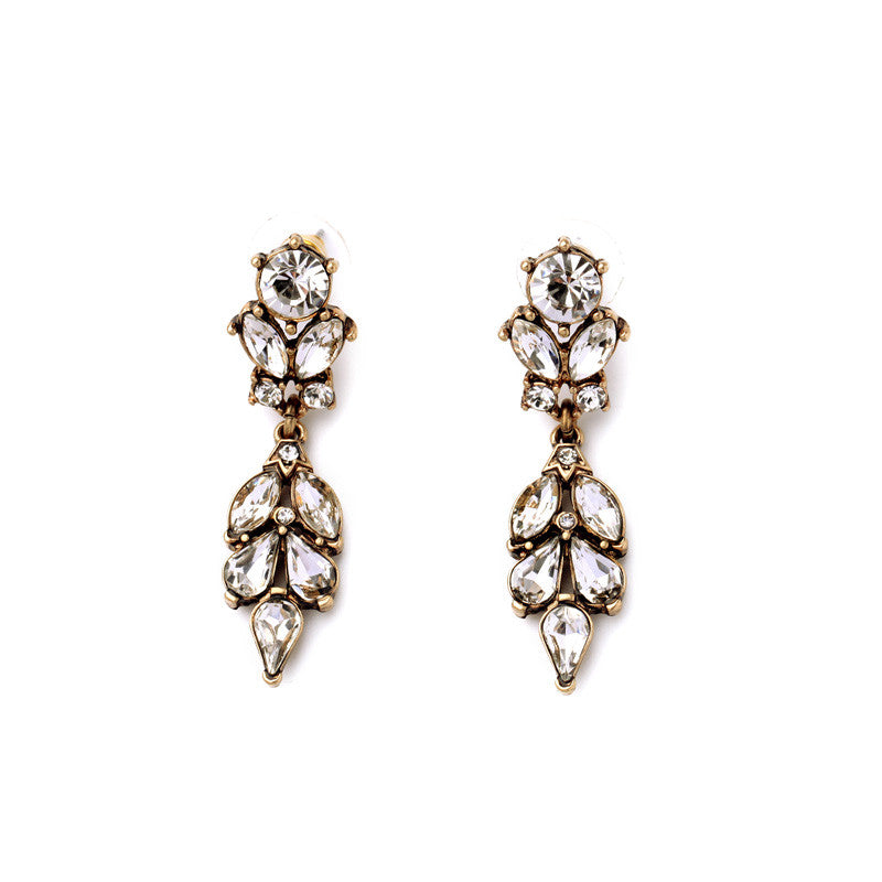 Last True Angel Drop Crystal Earrings - Jewella accessories