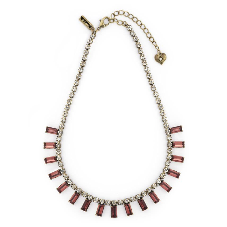 Lovett & Co Milk Stone Burgundy Necklace - Jewella accessories