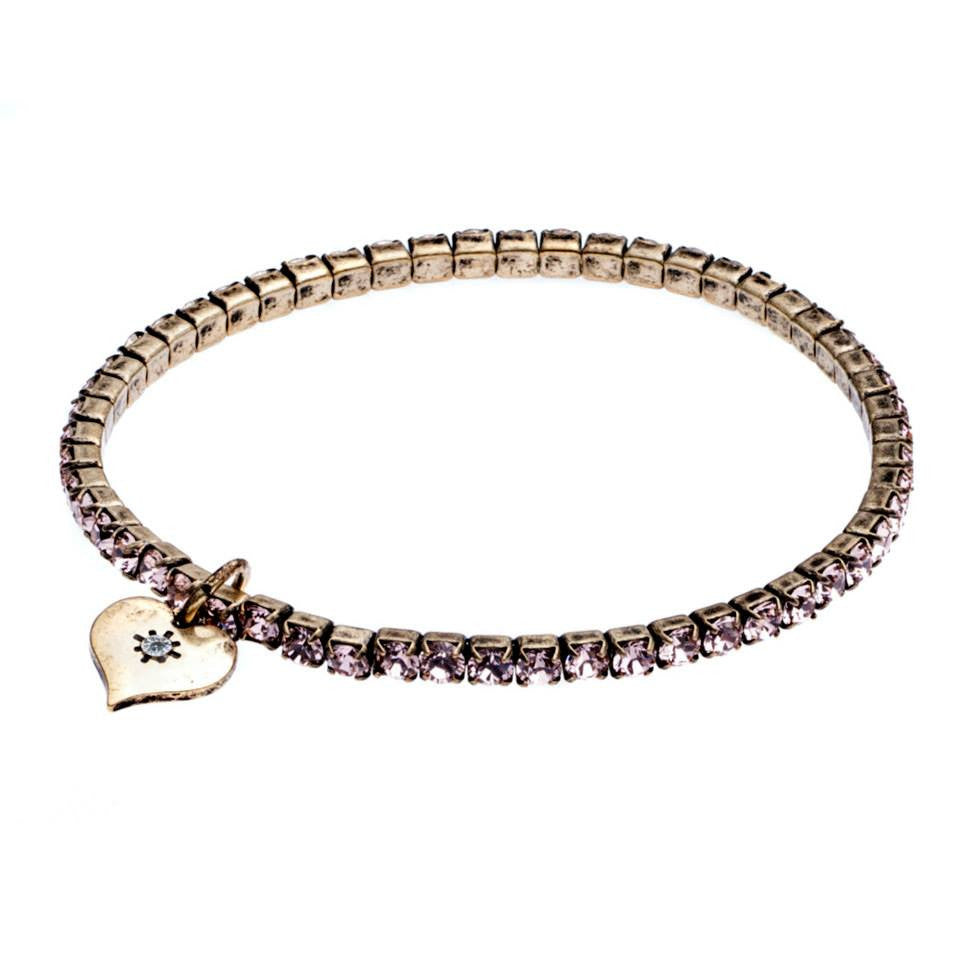 Lovett & Co Vintage Rose Stretch Bracelet - Jewella accessories