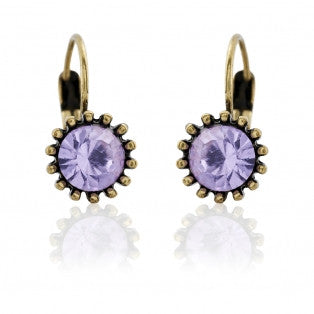 Lovett & Co Violet French Clip Earrings