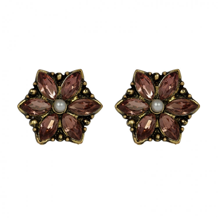 Lovett & Co Light Amethyst Flower Clip On Earrings