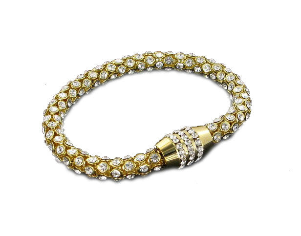 Nour London Gold Crystal Magnetic Bracelet