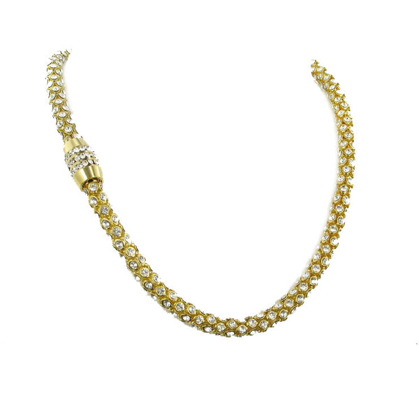 Nour London Gold Crystal Magnetic Necklace