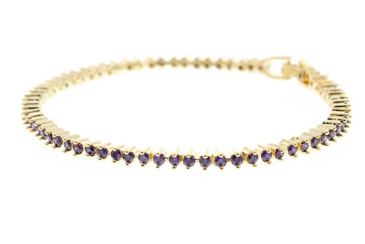 Nour London Amethyst Tennis Bracelet