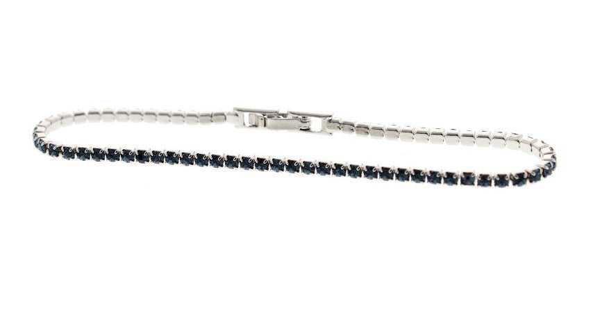 Nour London Blue Single Row Crystal Bracelet