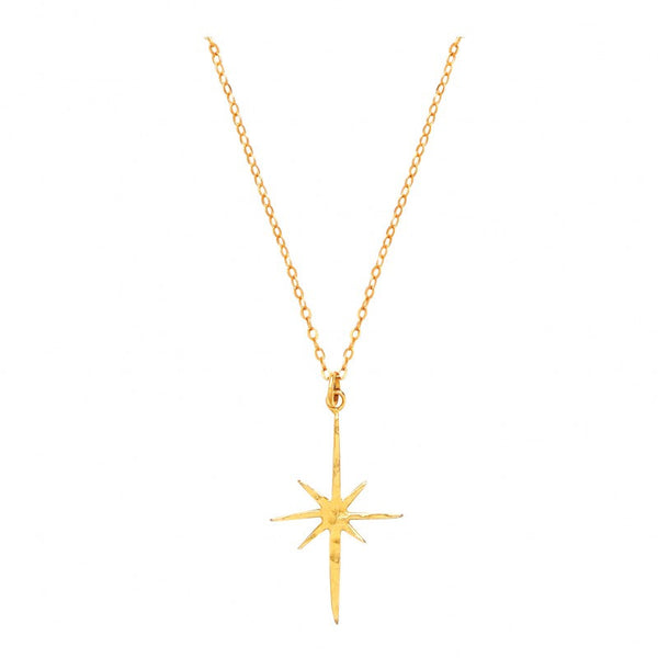 Ottoman Hands Small Gold Star Necklace