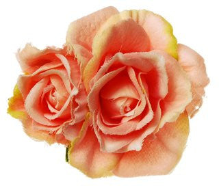 Rosie Fox Peach Rose Hairclip & Brooch - Jewella accessories