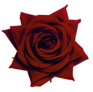 Rosie Fox Red Velvet Rose Hairclip & Brooch - Jewella accessories