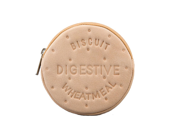 Yoshi Digestive Biscuit Leather Purse