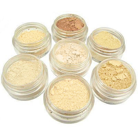 Pale Fair Skin Natural Mineral Foundation Complete Sample Pack