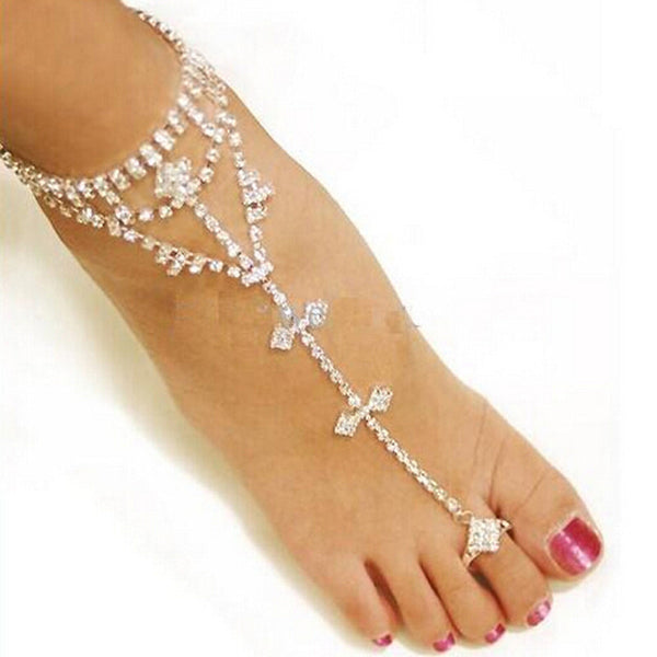 New Fashion Barefoot Sandal Foot Ankle Toe Chain Jewelry Anklet -Sexy Women Love Anklet