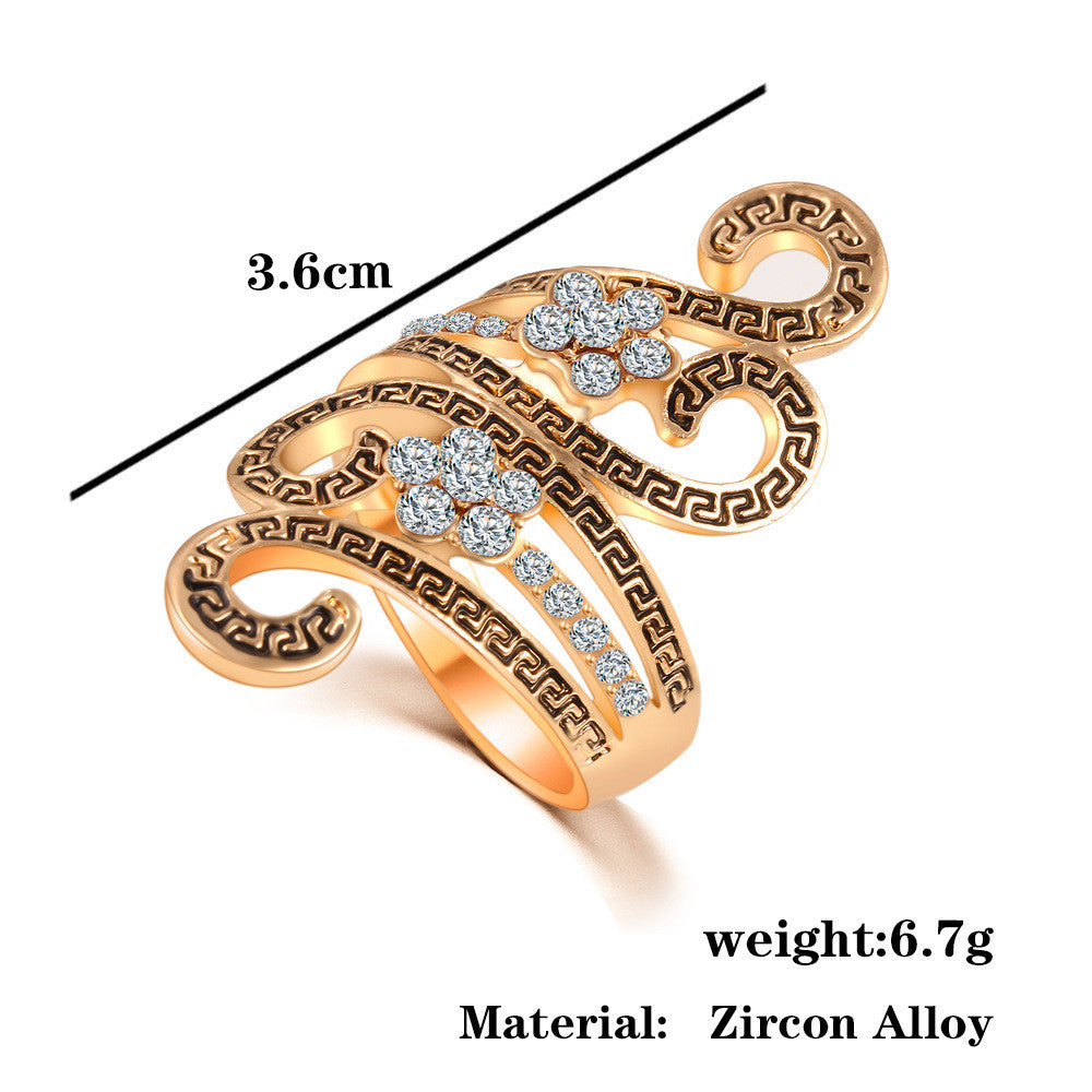 New Fashion Wedding Rings For Women Gold Plated Cz Diamond