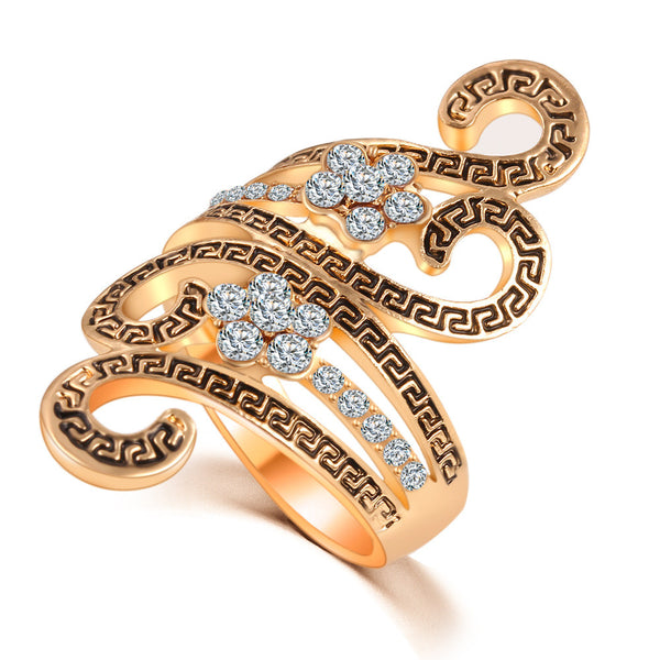 FREE Brand-New Stylish Fashion Gold Plated Cz Diamond Vintage Infinity Ring-FPS-SPECIAL PROMOTION Only- FREE (just pay small S&H, LIMITED TIME OFFER, based on Availability ! )
