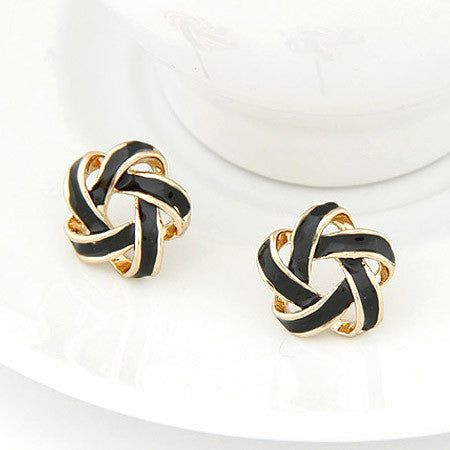 Fashion Flower Cross Stud Earrings Delicate Elegant Charm Fine Jewelry Earrings For Women