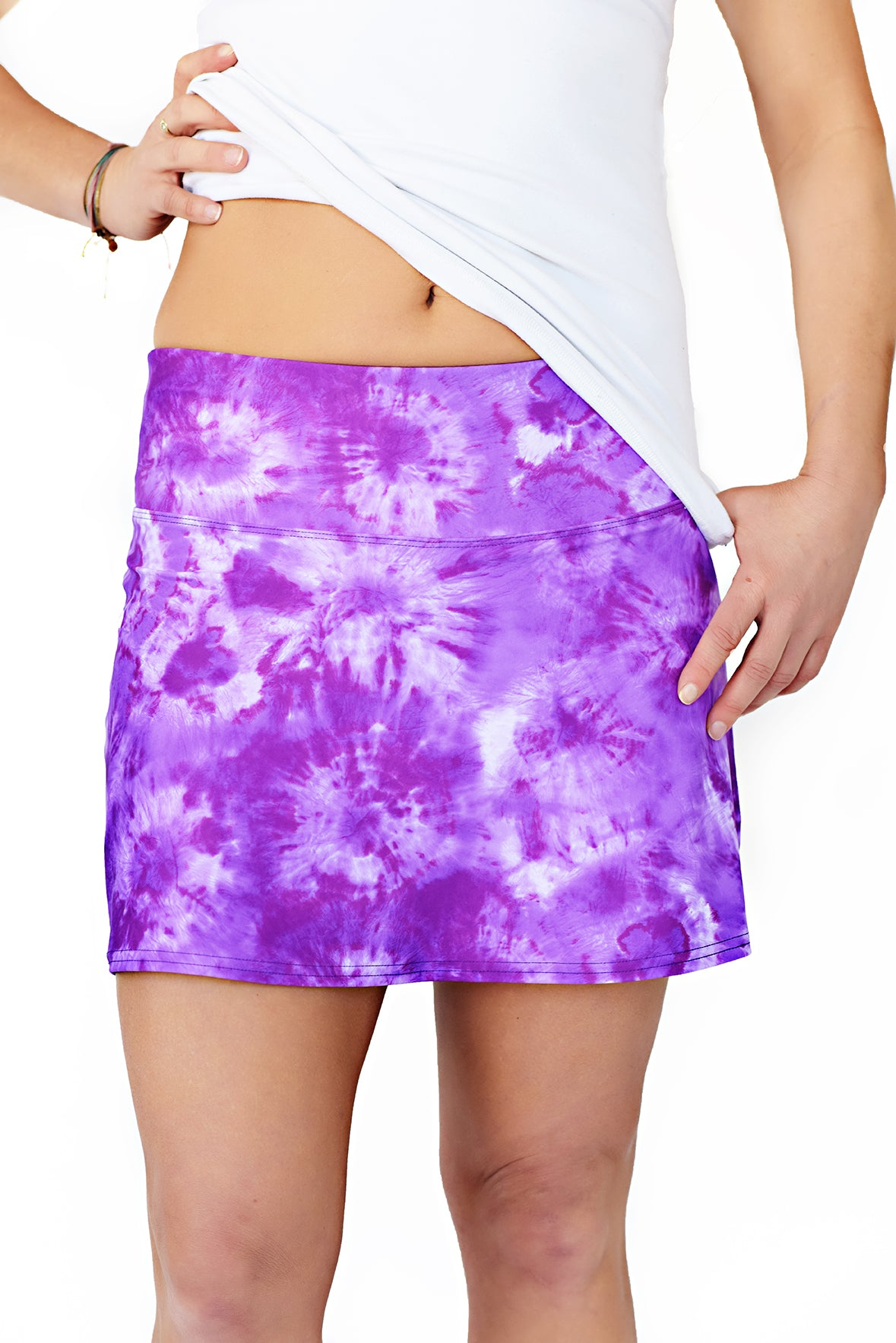 blyss running skirt purple haze front view