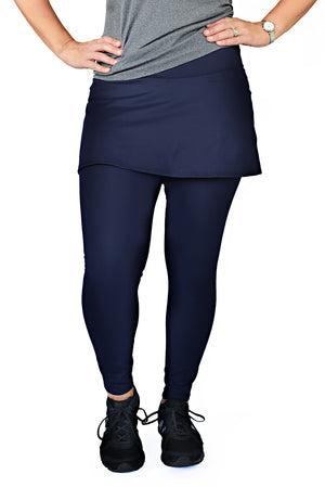 Skirted tight in navy front view