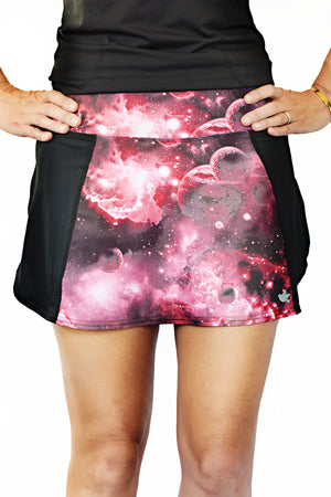 trail running skirt astral print front view