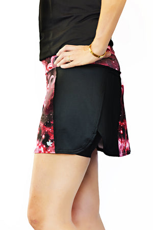 side view of trail running skirt