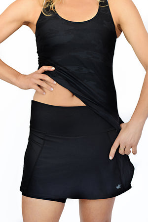 running skirt with open sides
