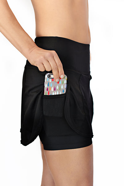 running skirt with phone pocket
