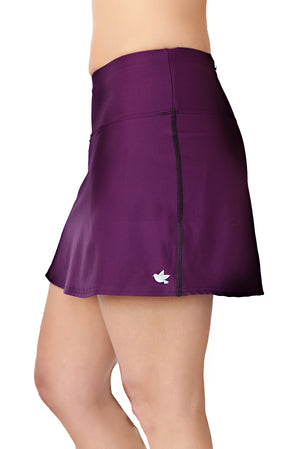blyss running skirt plum