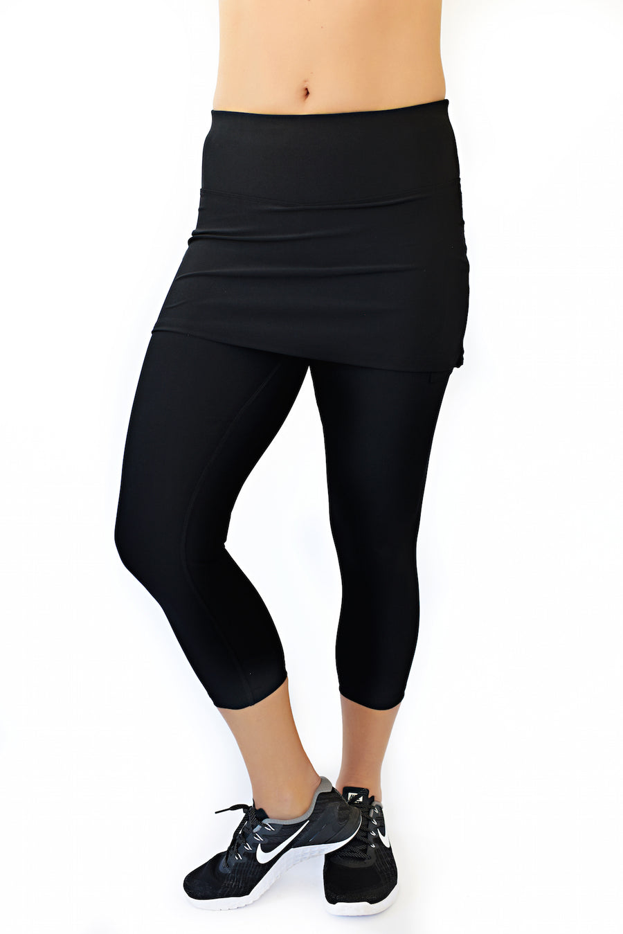 skirted running capri