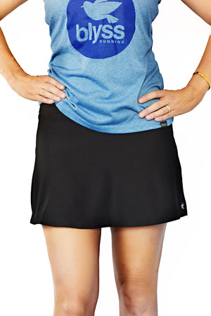Black cool weather running skirt