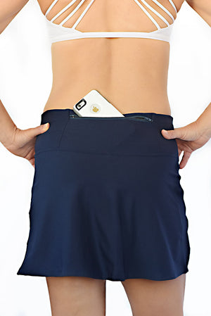 running skirt with back phone pocket