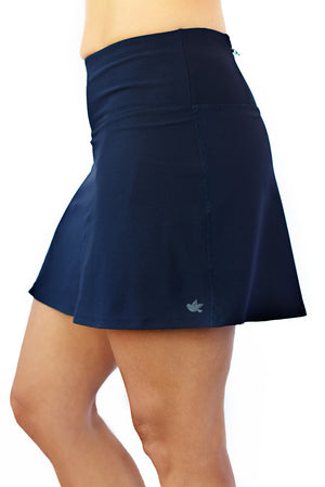 navy skirt side view