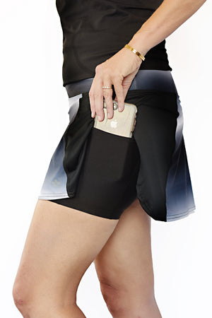 trail running skirt with side phone pocket