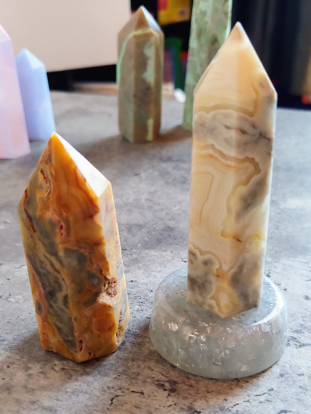 Crazy Lace Agate Towers