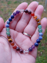 Load image into Gallery viewer, Chakra Rainbow Crystal Bracelet