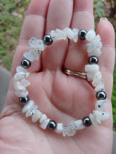 Load image into Gallery viewer, Moonstone Hematite Crystal Bracelet
