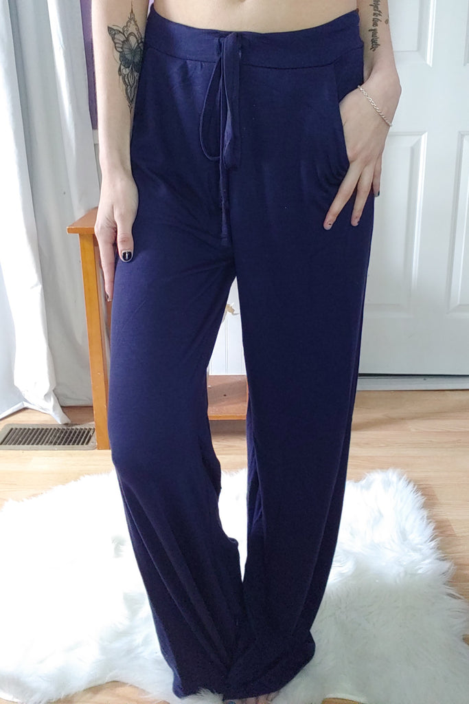 Navy Drawstring Pants (S-XL)