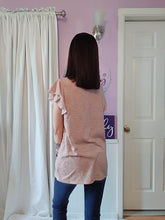 Load image into Gallery viewer, Mauve Flutter Sleeve Top (S-XL)