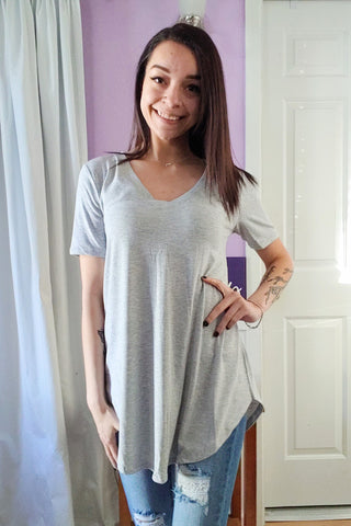 Comfy Tee V-neck Heather Grey (S-XL)