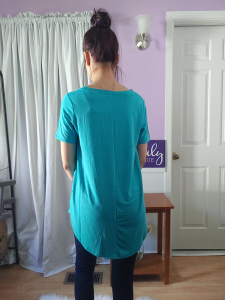 Comfy Tee V-neck Blue Mint (S-XL)