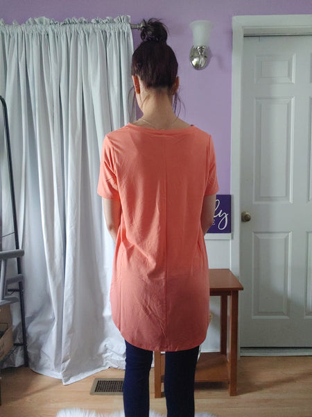 Comfy Tee V-neck Rose (S-XL)