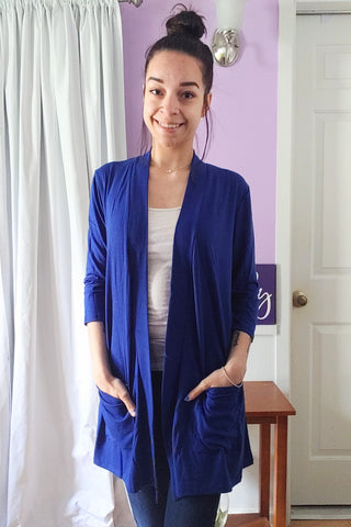 Lori Cardigan in Royal (S-XL)