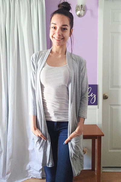 Lori Cardigan in Heather Grey (S-XL)