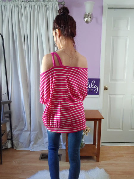 Paradise Pink One Shoulder Top (S-XL)