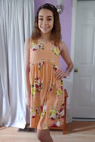 Georgia Floral Tank Dress (S-XL)